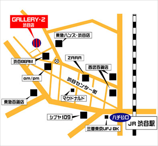 GALLERY・2渋谷店の地図